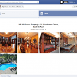 A Facebook screenshot shows multiple images of the interior of McLeod's house.