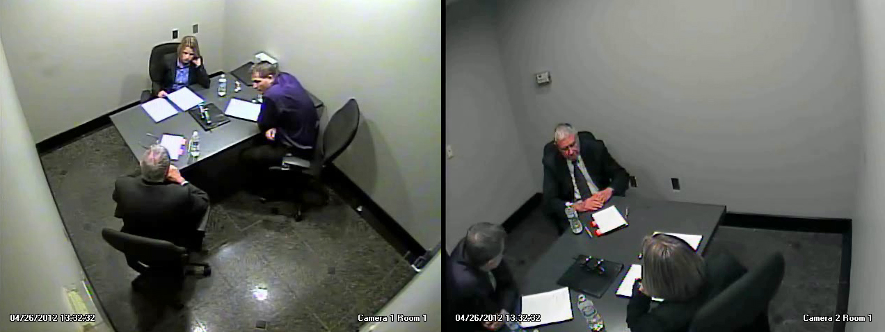 Two RCMP investigators interrogated Bruce Carson. video image