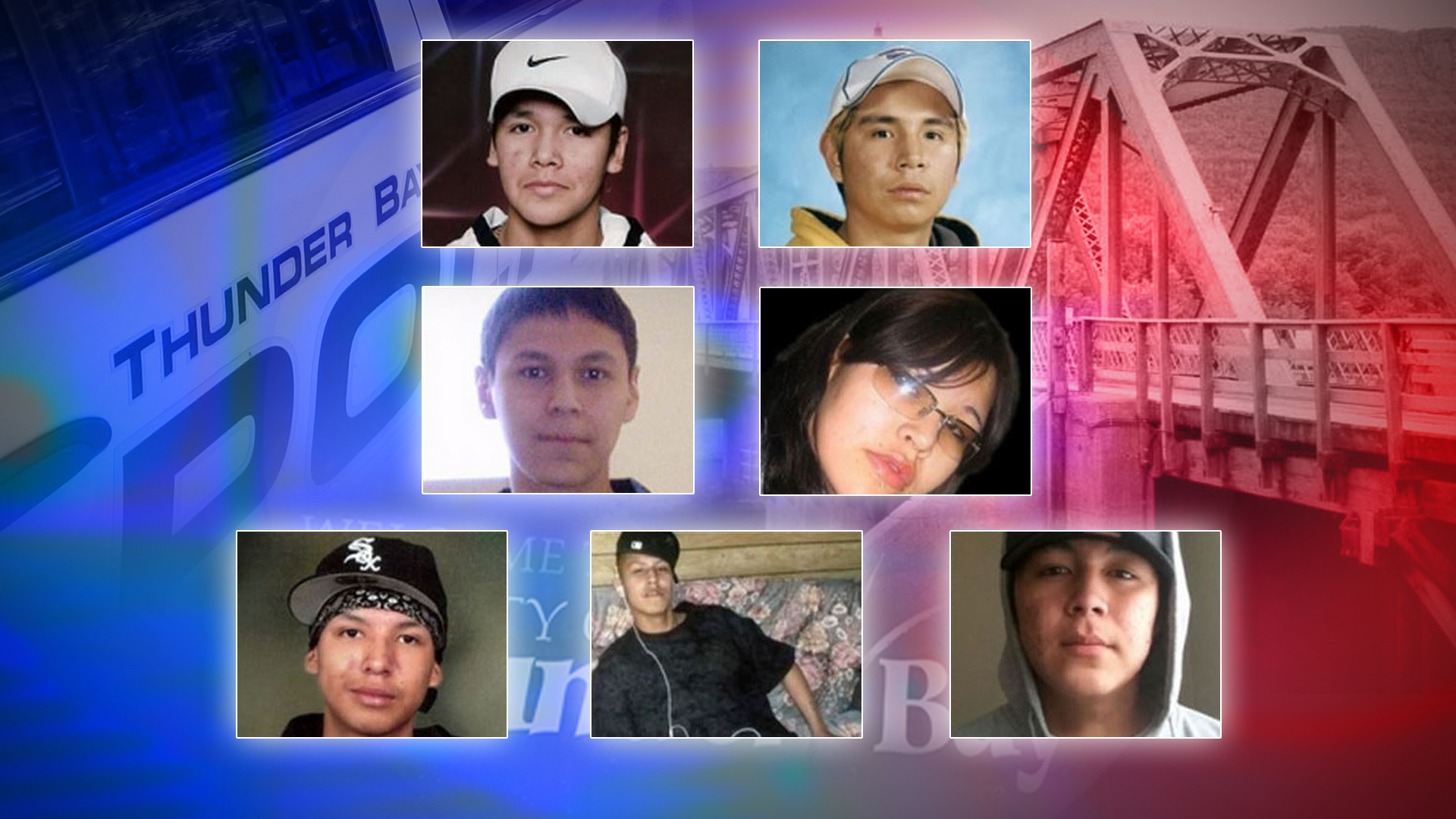 A coroner's inquest was held into the deaths of students: Jethro Anderson. Curran Strang, Paul Panacheese, Robyn Harper, Reggie Bushie, Kyle Morriseau and Jordan Wabasse.