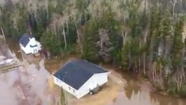 Flooding in Mud Lake, Labrador. Photo courtesy: Mud Lake Relief