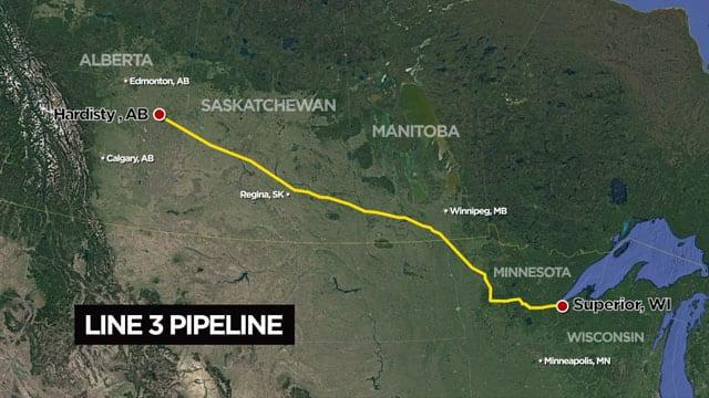 Enbridge Line 3 pipeline project should follow existing route, U.S. ...