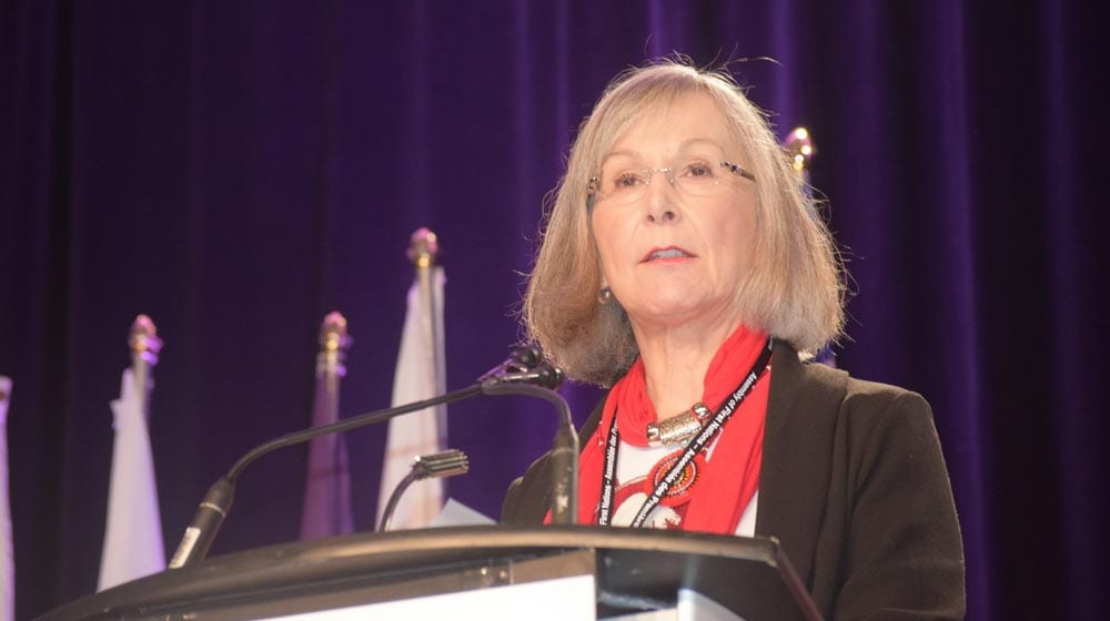 Marion Buller is the chief commissioner of the National Inquiry into Missing and Murdered Indigenous Women and Girls. Photo: APTN News