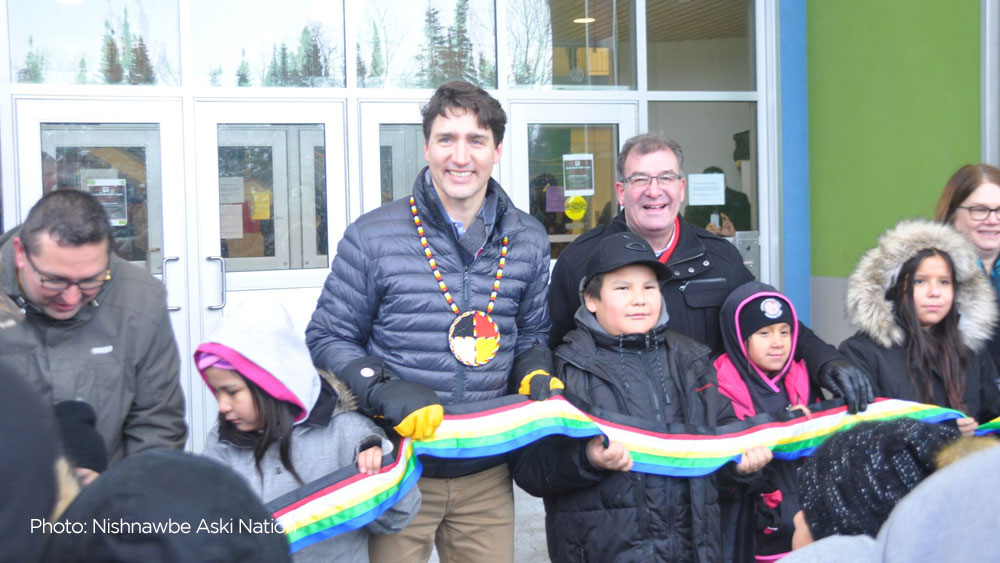 Trudeau visits First Nation with a housing shortage worse