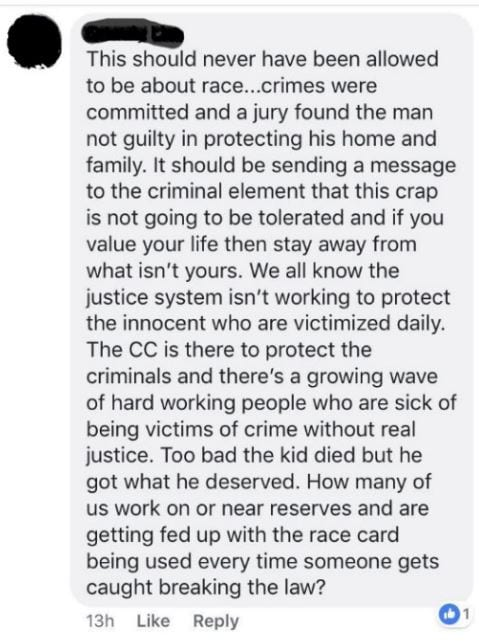 RCMP Facebook group claims Colten Boushie 'got what he