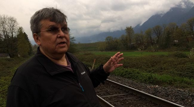Cheam First Nation Chief Ernie Crey says the Trans Mountain pipeline expansion will create jobs and provide cash to invest in the community. Lucy Scholey/APTN