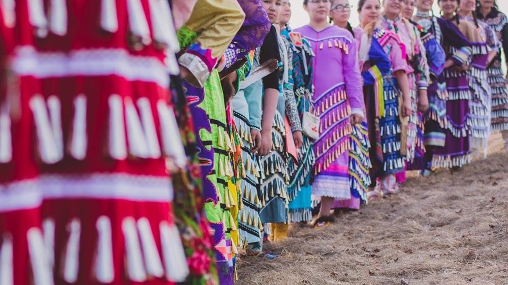 Jingle Dancers in DFC in Thunder Bay. Jingle Dress Photo: Willow Fiddler/APTN