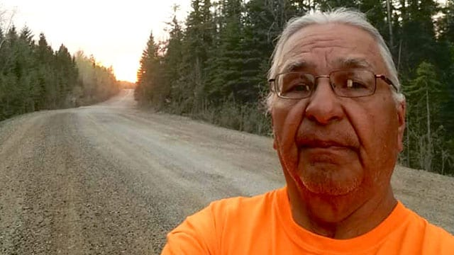 Victor Chapais from the Ginoogaming First Nation in northern Ontario. His granddaughter died by suicide in 2012.