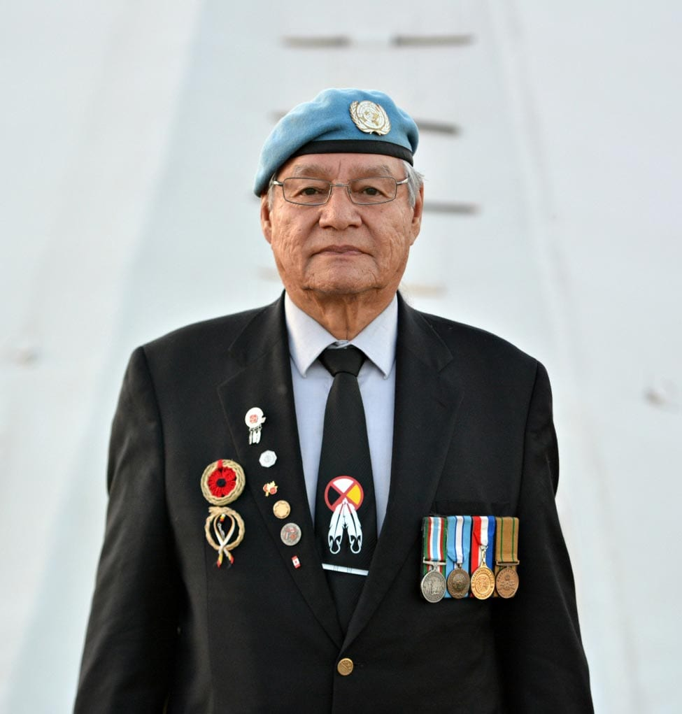 Steven Ross, Grand Chief of the Saskatchewan First Nations Veterans Association.