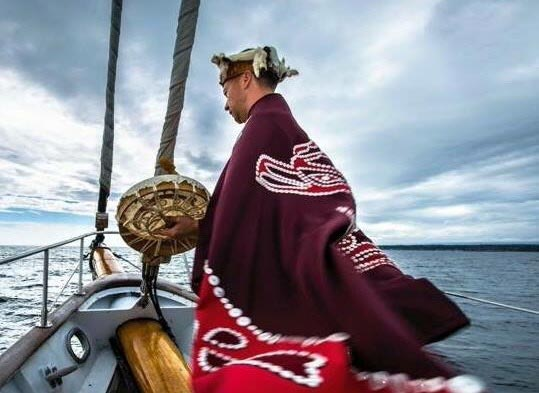 Hereditary Chief Ernest Alfred of 'Namgis First Nation. Photo courtesy Sea Shepherd Conservation