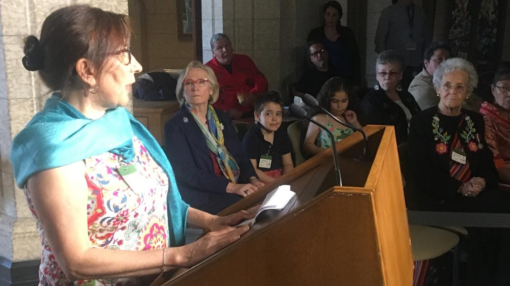 Evelyn Korkmaz, a Cree survivor who attended St. Anne's residential school in Fort Albany, Ont.