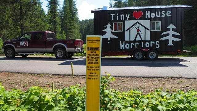 Some members of the anti-pipeline group TIny House Warriors were arrested Monday in B.C. (APTN file photo)