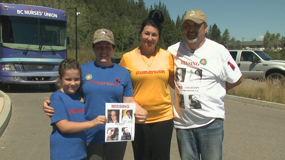 The Simpson family at the MMIW drone search in Enderby, July 2018. Photo: Rob Smith/APTN