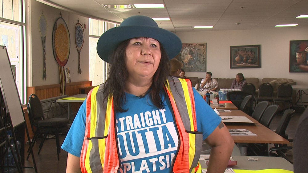 Jody Leon is the founder of the MMIW drone search team in the Splatsin Nation. Photo: Rob Smith/APTN.