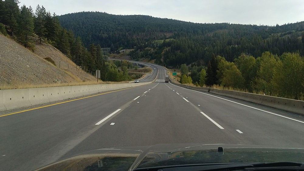 The Coquihalla Highway (Hwy 5 N) in B.C.