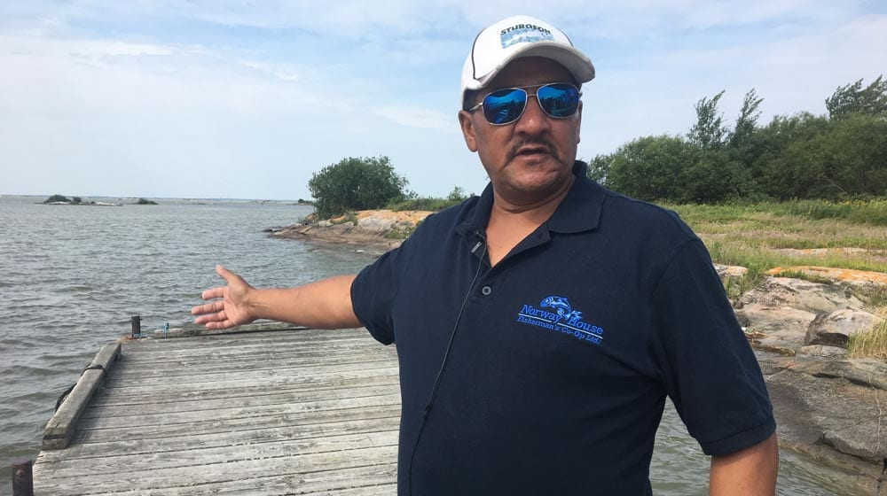 ChrisClarke: Norway House Fisherman's Co-op President Chris Clarke says despite his community's settlement with Hydro more than 20 years ago, the waters are still polluted, fish populations are dwindling, and his people are struggling to hold on to their way of life. Photo: Justin Brake/APTN