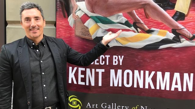 Kent Monkman's painting of the harsh truth of colonialism finds a home in Halifax