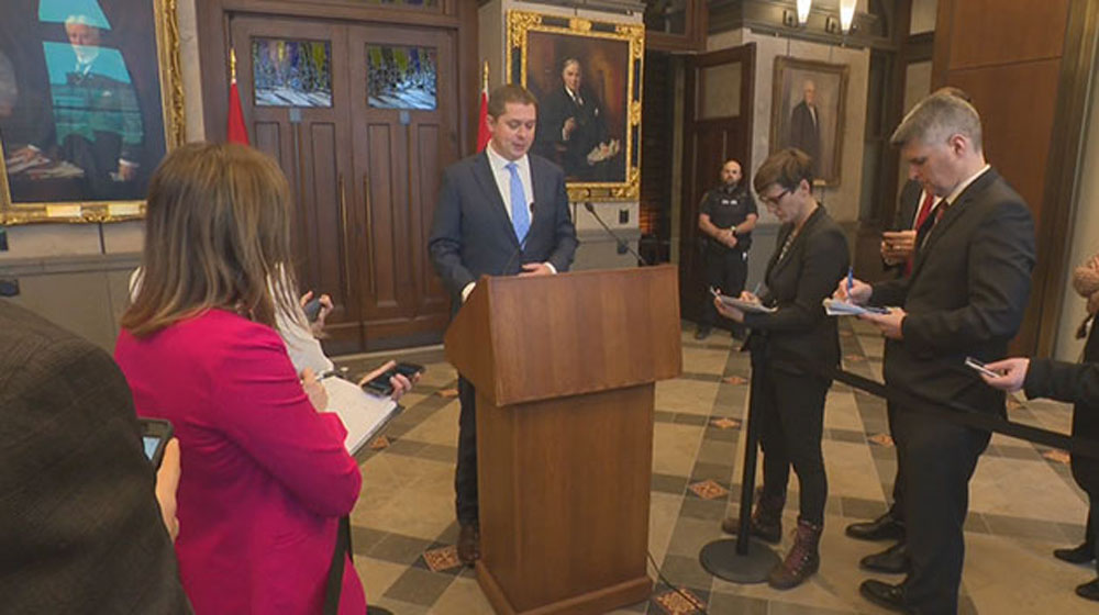 'They need to check their privilege': Scheer calls for police to end demonstrations - APTN News