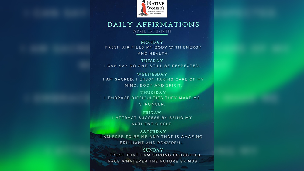 Womens daily affirmations