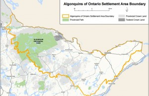 Algonquins of Ontario claim map. Click to enlarge.