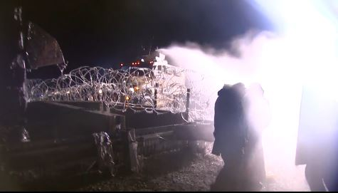 Police in North Dakota unleash water cannons against water protectors.