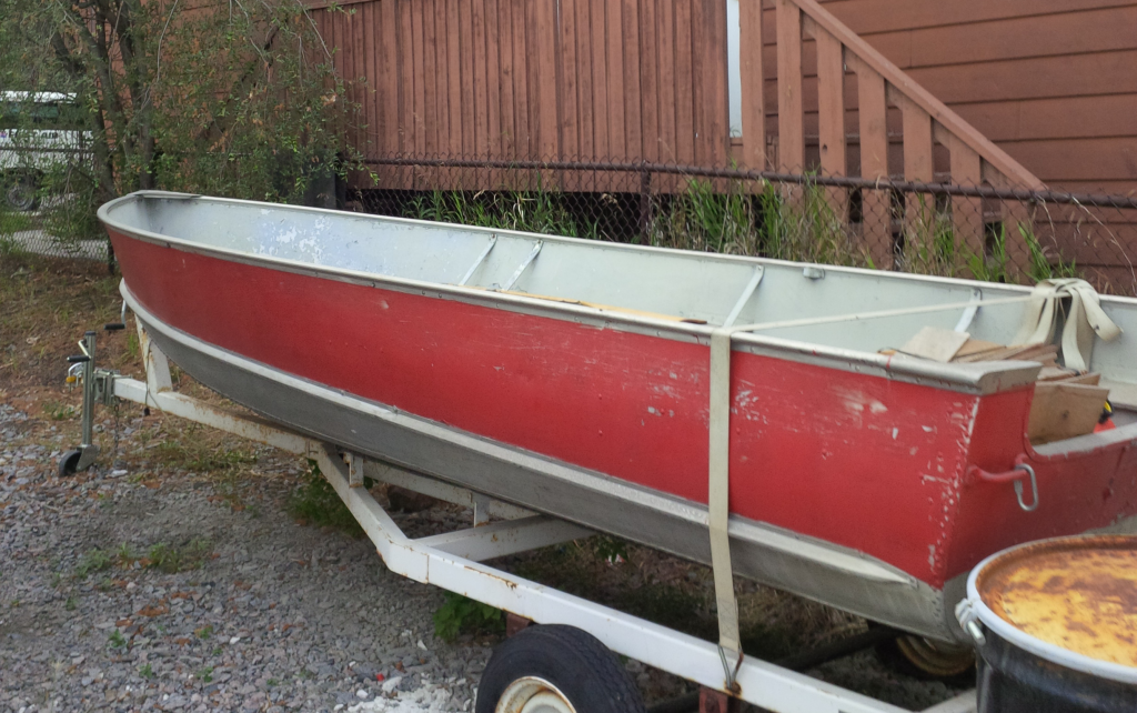A boat in Yellowknife.