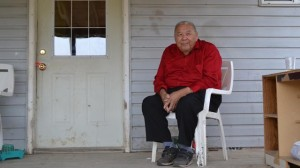 Elder on porch