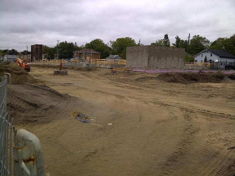 This photo was taken in 2011 and shows work is underway on the pedestrian under pass.