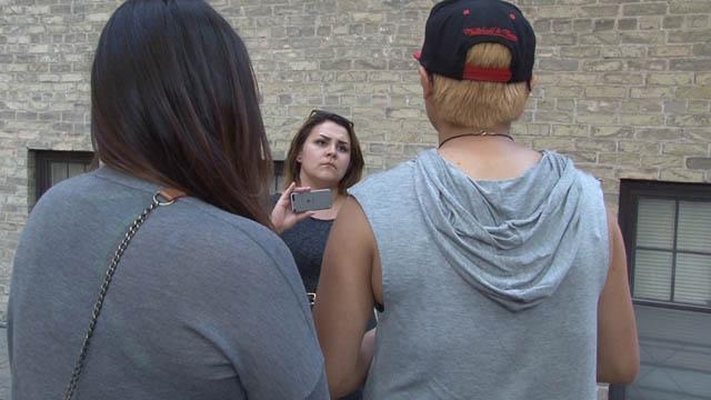 APTN's Jaydon Fleet interviews two CFS girls, 16, June 16.