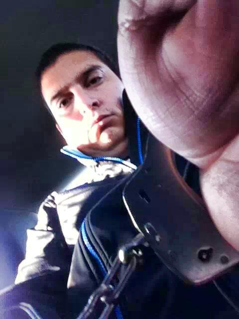 Malcolm Ward took a 'selfie' while handcuffed in the back of an RCMP cruiser and posted it on Facebook. Photo Malcolm Ward/Facebook