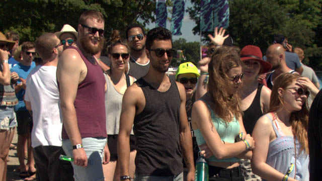 Festival-goers at the WayHome music festival Friday.