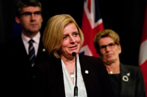 Alberta Premier Rachel Notley on Monday after meeting with premiers and Prime Minister Justin Trudeau. Julien Gignac/APTN