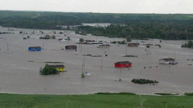 Siksika Nation flooding