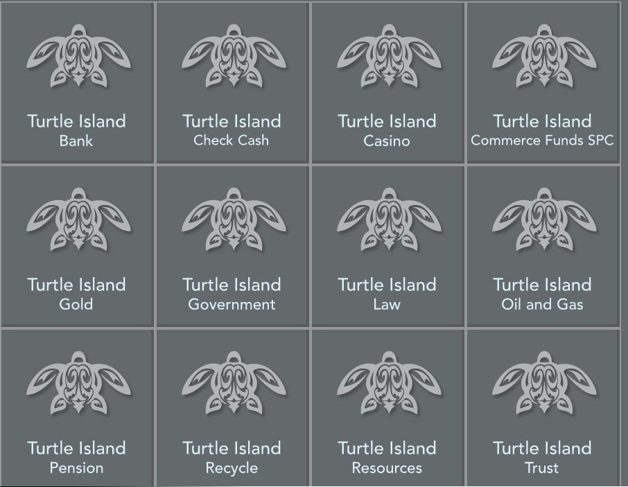 Screenshot of Turtle Island Funds website from 2012 shows the different categories for possible investment.