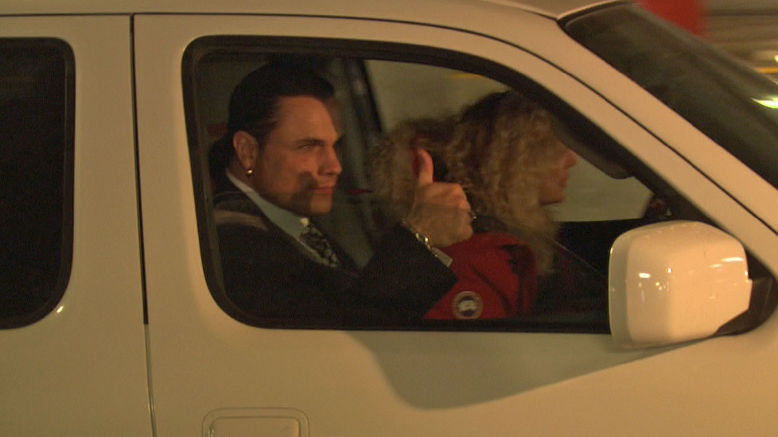 Suspended Senator Patrick Brazeau gives thumps up after trial Monday
