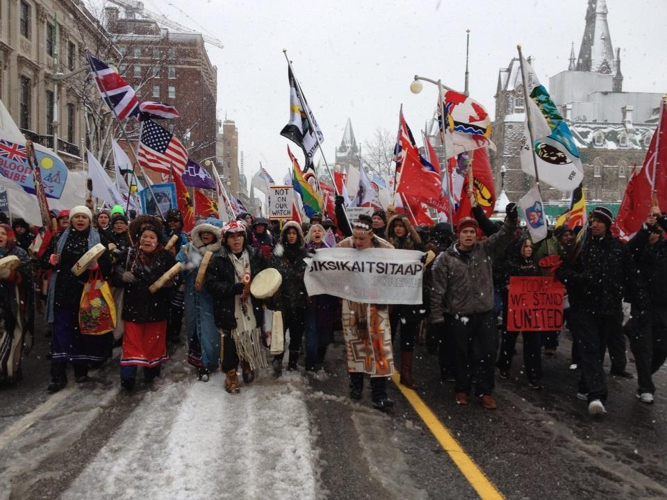 Idle No More march on Dec. 21, 2012, in Ottawa. APTN/File