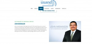 John Miswagon, Usand's vice-president for Aboriginal Services. Usand website image