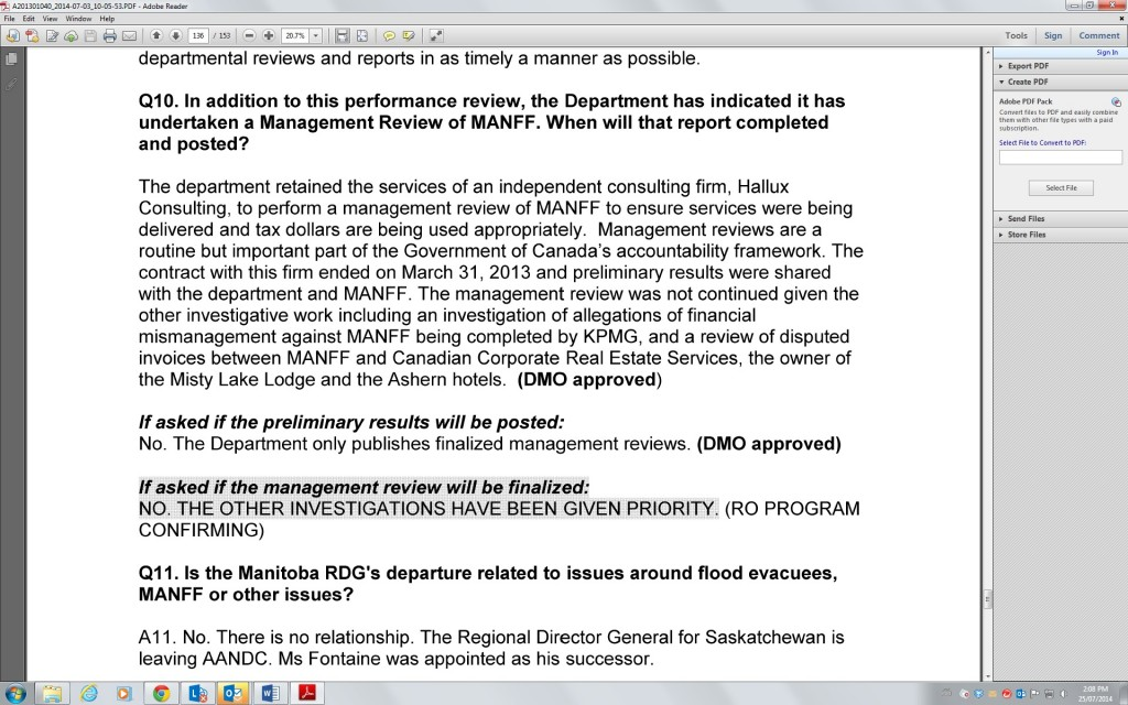 Email depicting no management review data details.