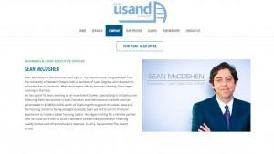 Usand CEO Sean McCoshen. Website image